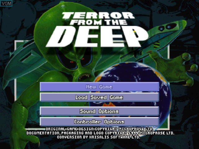 Image de l'ecran titre du jeu X-COM - Terror from the Deep sur Sony Playstation