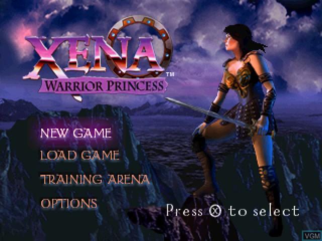 Image de l'ecran titre du jeu Xena - Warrior Princess sur Sony Playstation