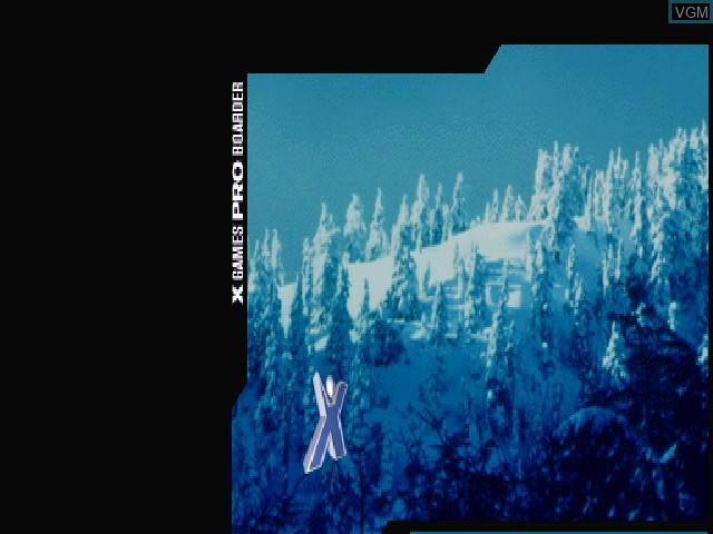 Image de l'ecran titre du jeu X Games Pro Boarder sur Sony Playstation