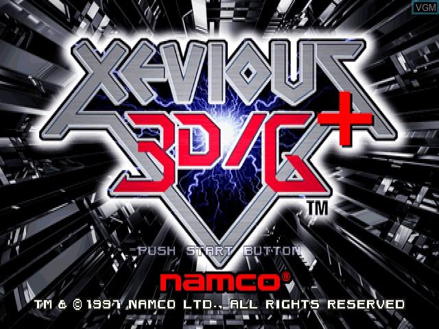 Image de l'ecran titre du jeu Xevious 3D-G+ sur Sony Playstation