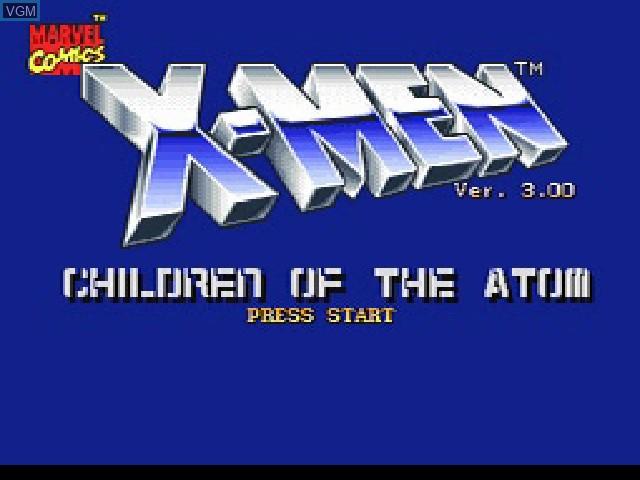 Image de l'ecran titre du jeu X-Men - Children of the Atom sur Sony Playstation