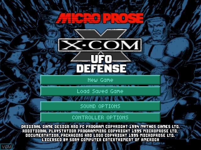 Image de l'ecran titre du jeu X-COM - UFO Defense sur Sony Playstation