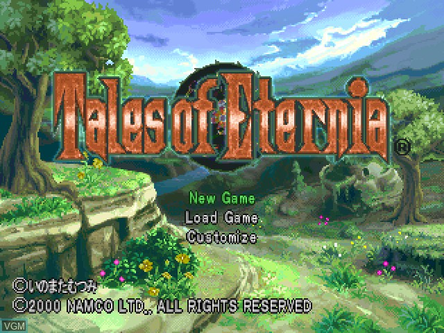 Image de l'ecran titre du jeu Tales of Eternia sur Sony Playstation