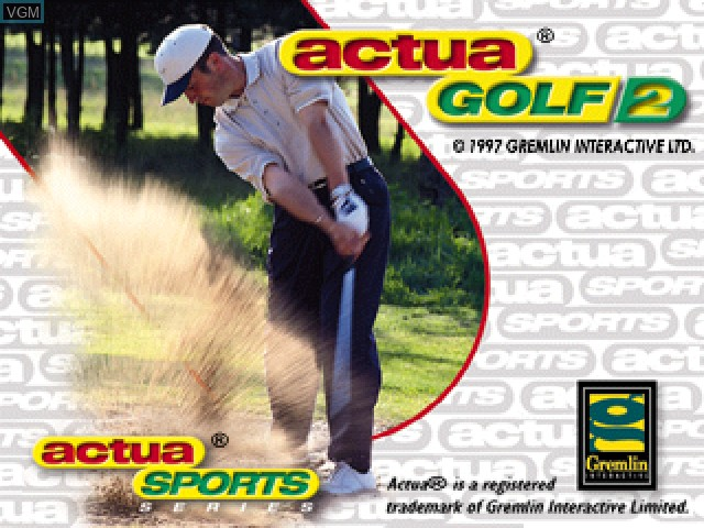 Image de l'ecran titre du jeu Actua Golf 2 sur Sony Playstation