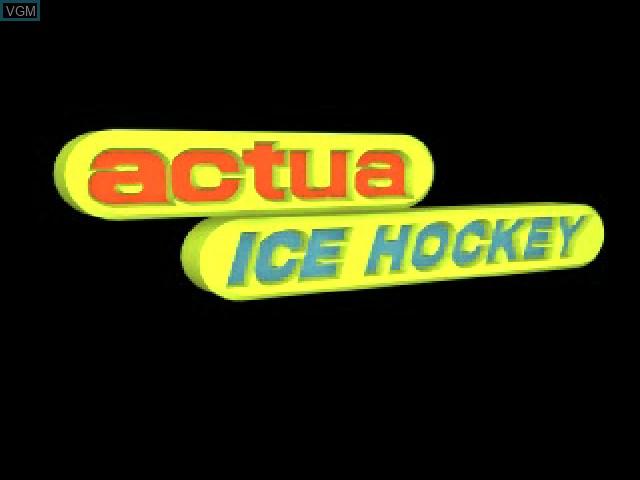 Image de l'ecran titre du jeu Actua Ice Hockey sur Sony Playstation