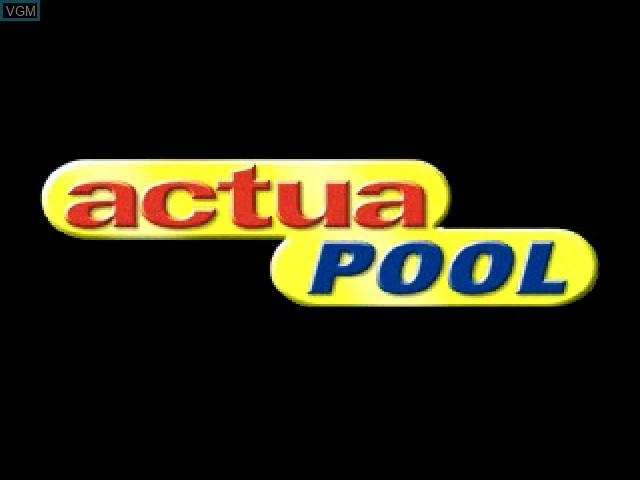 Image de l'ecran titre du jeu Actua Pool sur Sony Playstation