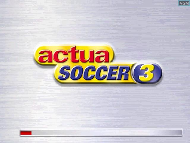 Image de l'ecran titre du jeu Actua Soccer 3 sur Sony Playstation