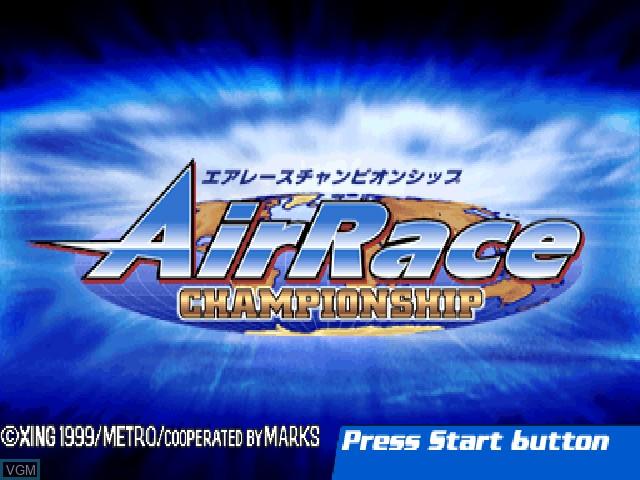 Image de l'ecran titre du jeu AirRace Championship sur Sony Playstation