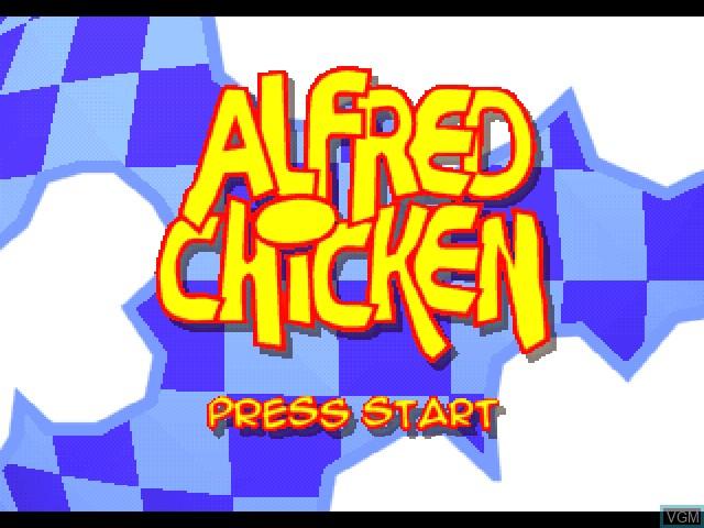 Image de l'ecran titre du jeu Alfred Chicken sur Sony Playstation