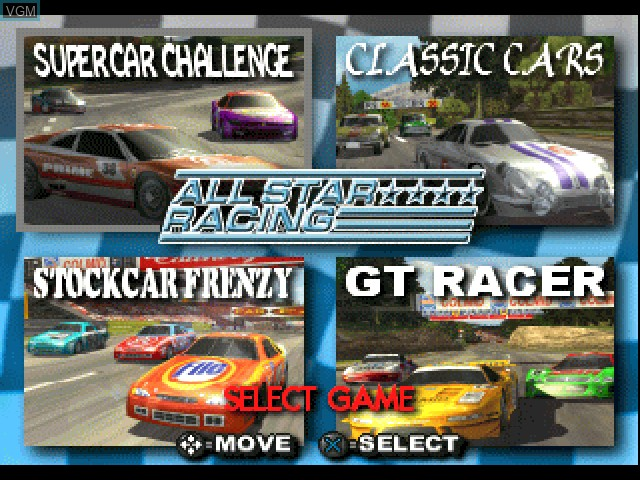 Image de l'ecran titre du jeu All Star Racing sur Sony Playstation