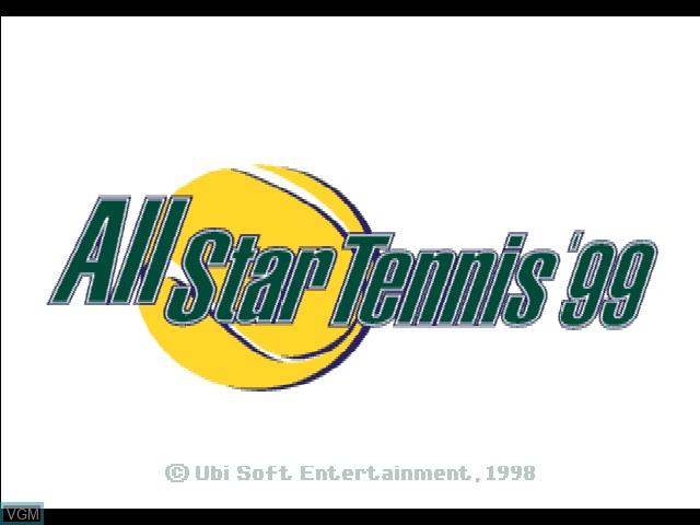 Image de l'ecran titre du jeu All Star Tennis '99 sur Sony Playstation