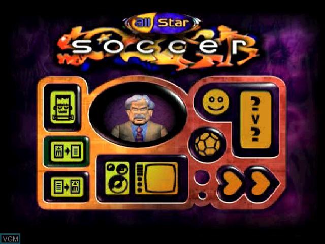 Image de l'ecran titre du jeu All Star Soccer sur Sony Playstation
