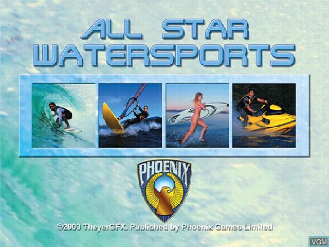 Image de l'ecran titre du jeu All Star Watersports sur Sony Playstation