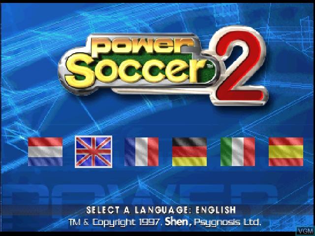 Image de l'ecran titre du jeu Adidas Power Soccer 2 sur Sony Playstation