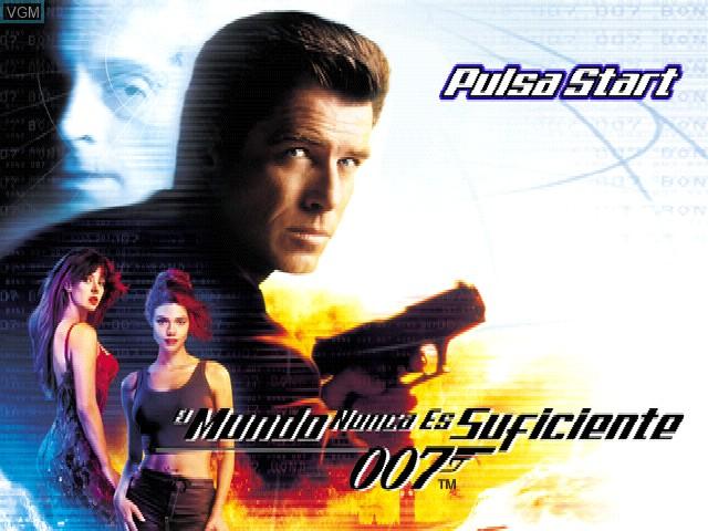 Image de l'ecran titre du jeu 007 - El mundo nunca es suficiente sur Sony Playstation