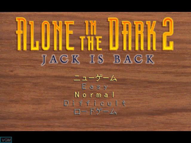Image de l'ecran titre du jeu Alone in the Dark 2 sur Sony Playstation