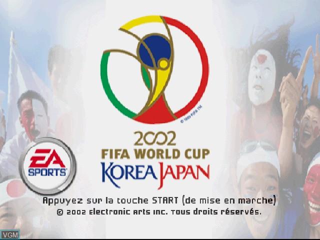 Image de l'ecran titre du jeu Coupe du Monde FIFA 2002 sur Sony Playstation