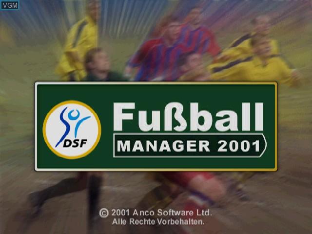Image de l'ecran titre du jeu DSF Fussball Manager 2001 sur Sony Playstation