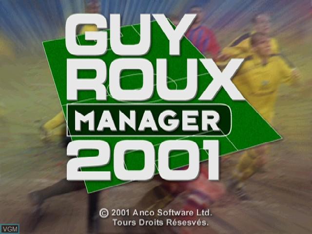 Image de l'ecran titre du jeu Guy Roux Manager 2001 sur Sony Playstation