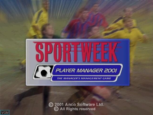 Image de l'ecran titre du jeu Sportweek Player Manager 2001 sur Sony Playstation