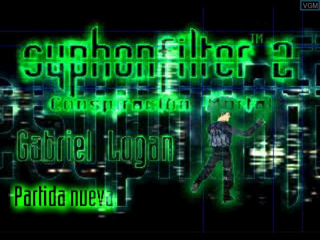 Image de l'ecran titre du jeu Syphon Filter 2 - Conspiracion Mortal sur Sony Playstation