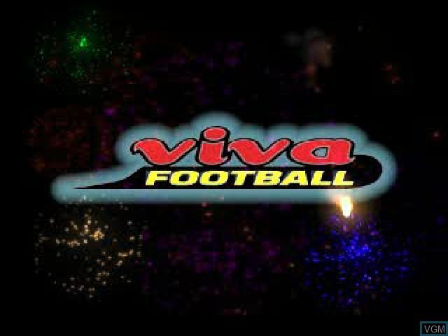 Image de l'ecran titre du jeu Viva Football sur Sony Playstation