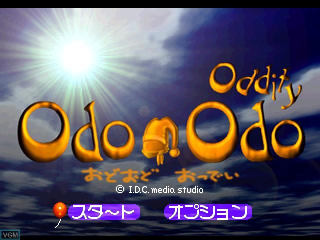 Image de l'ecran titre du jeu Odo Odo Oddity sur Sony Playstation