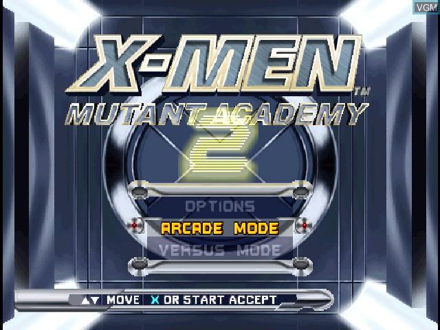 Image de l'ecran titre du jeu X-Men - Mutant Academy 2 sur Sony Playstation