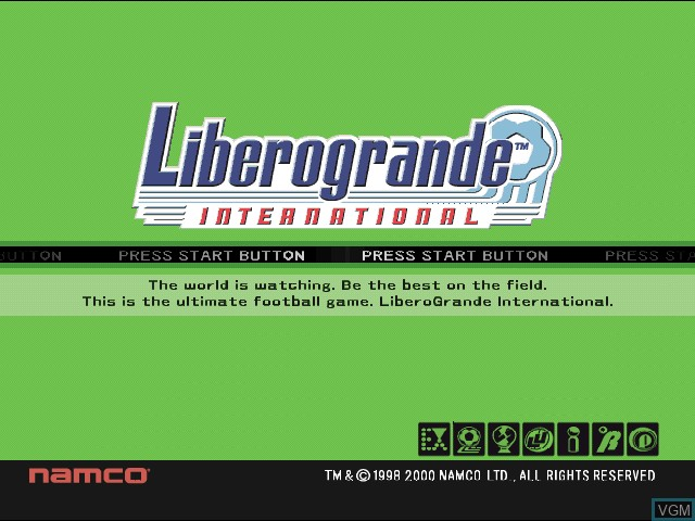 Image de l'ecran titre du jeu Liberogrande International sur Sony Playstation