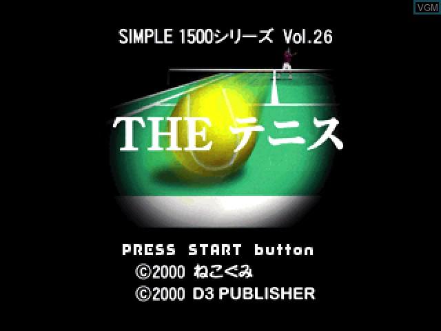 Image de l'ecran titre du jeu Simple 1500 Series Vol. 26 - The Tennis sur Sony Playstation