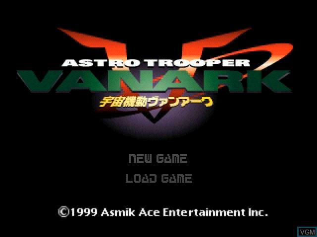 Image de l'ecran titre du jeu Astro Trooper Vanark sur Sony Playstation