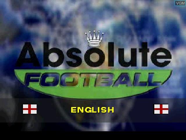 Image de l'ecran titre du jeu Absolute Football sur Sony Playstation