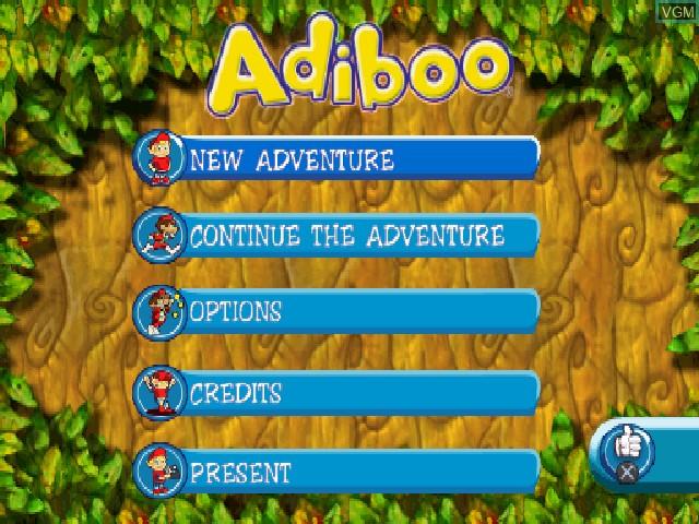 Image de l'ecran titre du jeu Adiboo & Paziral's Secret sur Sony Playstation