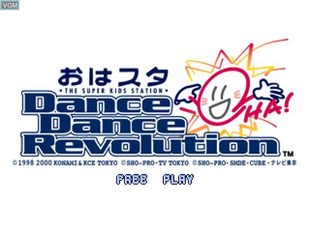 Image de l'ecran titre du jeu Oha Star Dance Dance Revolution sur Sony Playstation