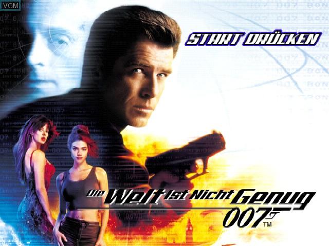 Image de l'ecran titre du jeu 007 - Die Welt ist nicht genug sur Sony Playstation