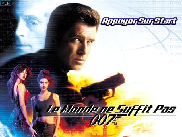 Image de l'ecran titre du jeu 007 - Le Monde ne Suffit Pas sur Sony Playstation