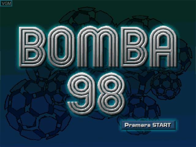 Image de l'ecran titre du jeu Bomba:98 sur Sony Playstation