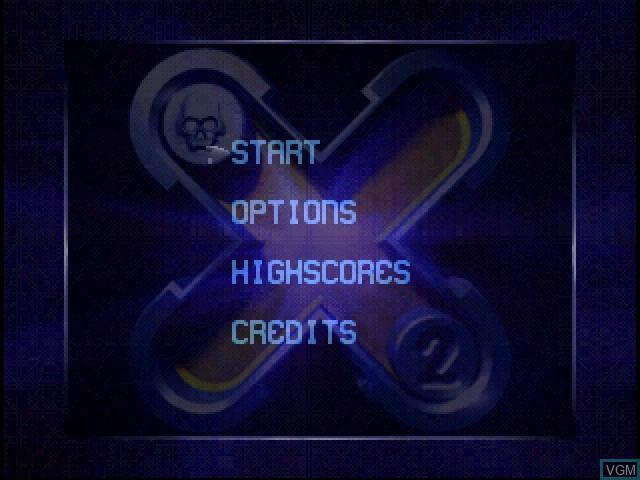 Image du menu du jeu X2 - No Relief sur Sony Playstation