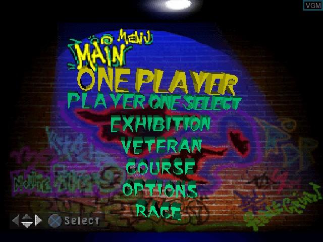 Image du menu du jeu 2Xtreme sur Sony Playstation