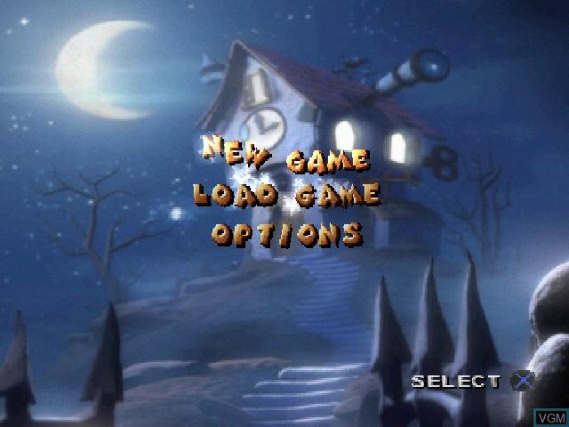 Image du menu du jeu 40 Winks sur Sony Playstation