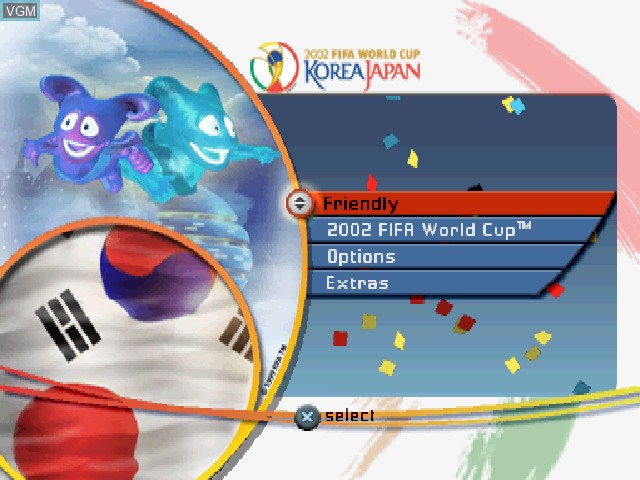 Image du menu du jeu 2002 FIFA World Cup Korea Japan sur Sony Playstation