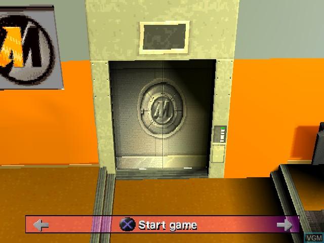 Image du menu du jeu Action Man - Mission Xtreme sur Sony Playstation