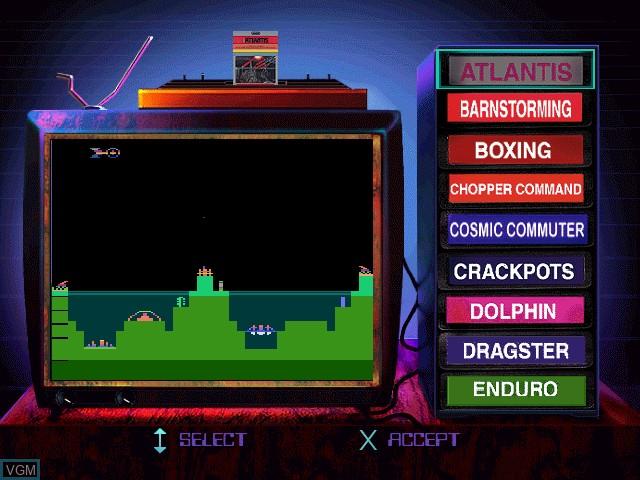 Image du menu du jeu Activision Classics sur Sony Playstation