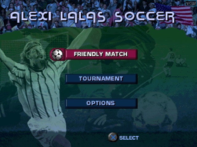 Image du menu du jeu Alexi Lalas International Soccer sur Sony Playstation