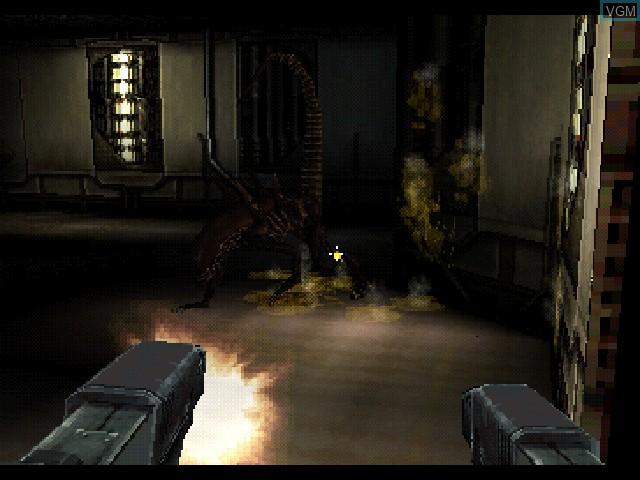 Image du menu du jeu Alien Resurrection sur Sony Playstation