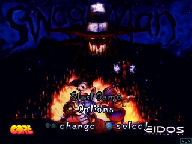 Image du menu du jeu Swagman sur Sony Playstation