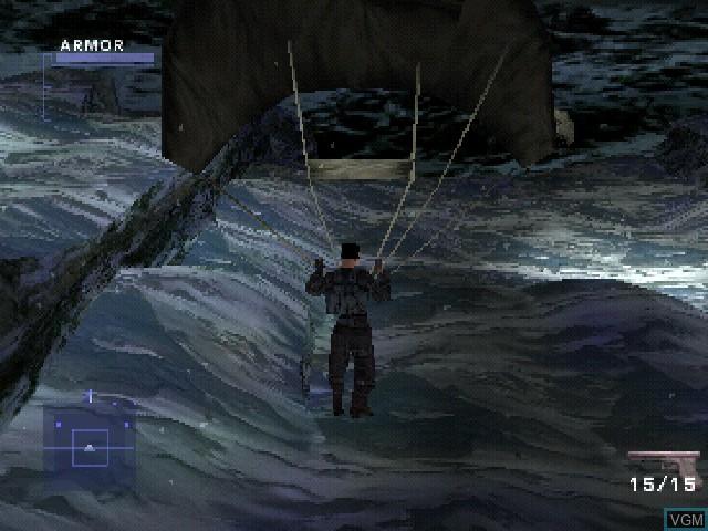 Image du menu du jeu Syphon Filter 2 sur Sony Playstation