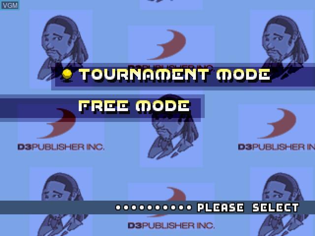 Image du menu du jeu Tennis sur Sony Playstation
