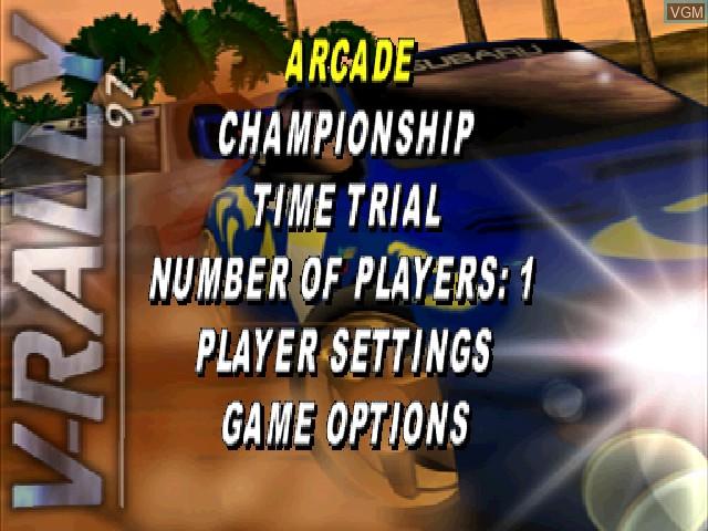 Image du menu du jeu V-Rally - 97 Championship Edition sur Sony Playstation