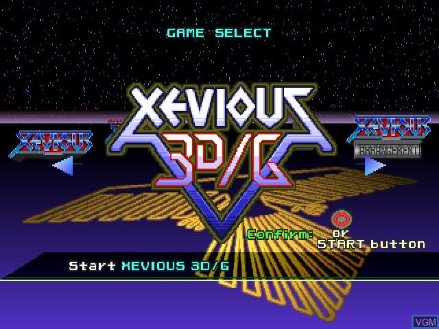 Image du menu du jeu Xevious 3D-G+ sur Sony Playstation